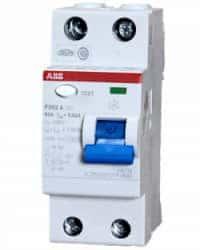 Interruptor Diferencial Monofásico 25A ABB 30mA Tipo A 2P
