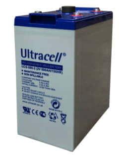 Batería GEL 2V 690Ah Ultracell UCG-690-2