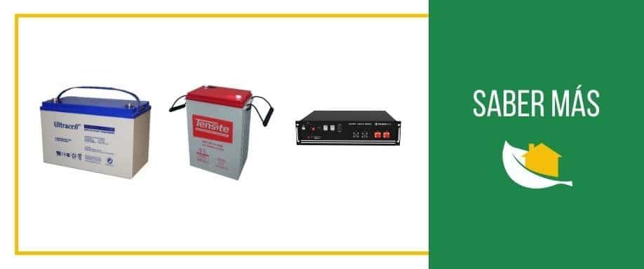 El estado de carga y tensión de las baterías