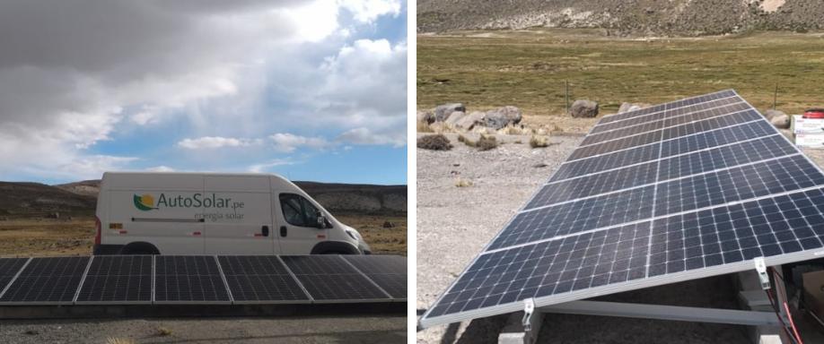 Instalación solar aislada en Moquegua
