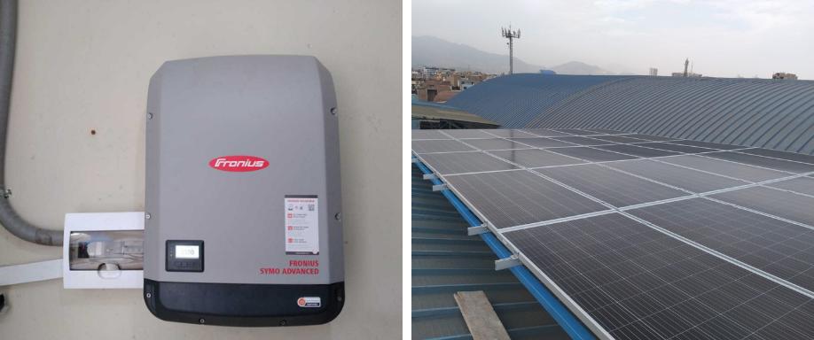 Instalación solar en el Centro de Lima