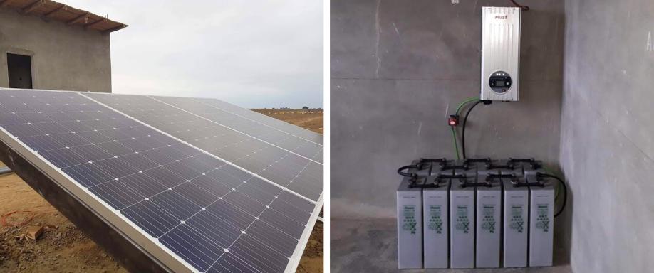 Instalación solar de 7.400 Wh/día con baterías en Ica