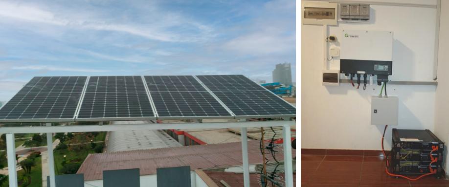 Instalación solar híbrida en Lima con Growatt y Pylontech