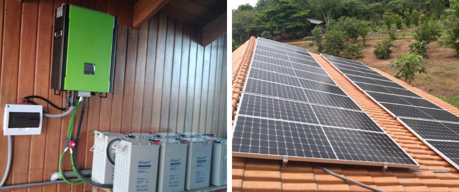 Instalación solar en Puerto Maldonado