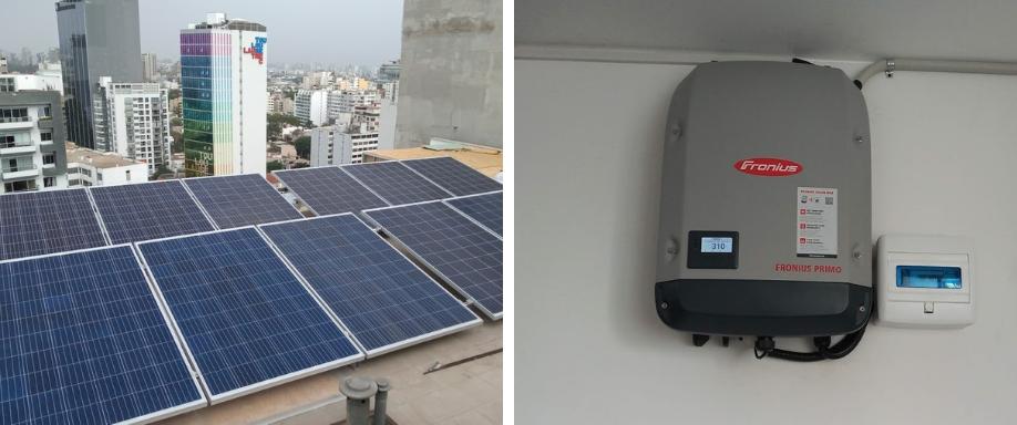 Instalación solar conectada a la red en Lima