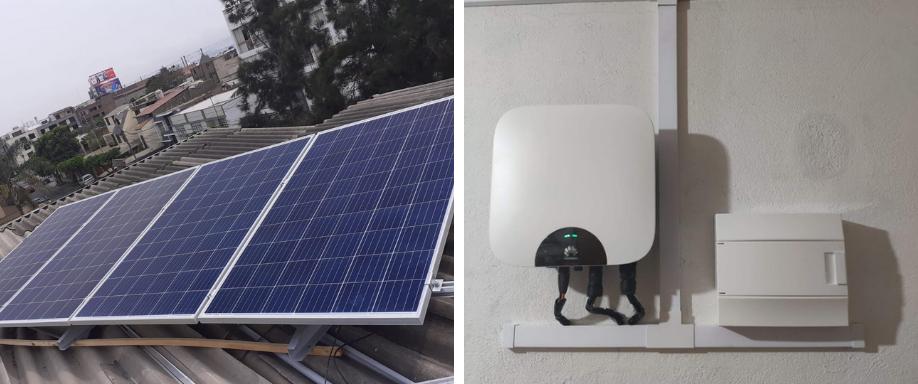 Instalación solar conectado a la red en Surco