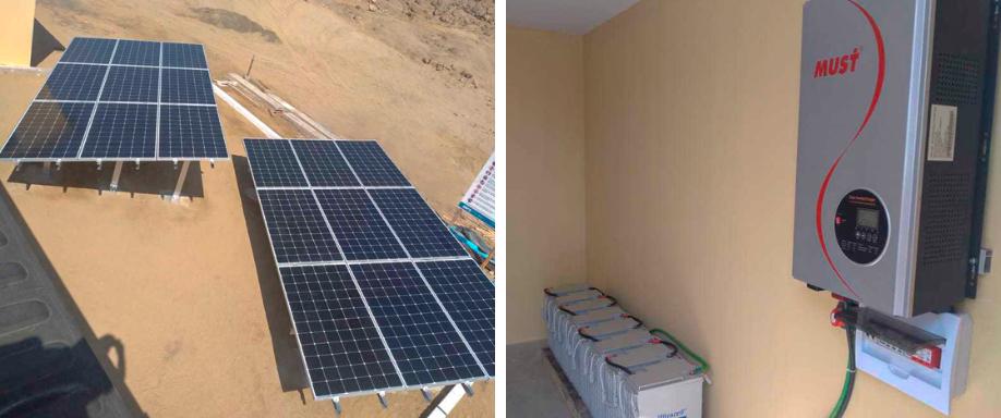 Instalación Kit Solar con Baterías en Chimbote