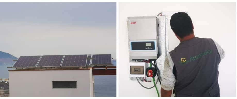 Instalación Kit Solar Vivienda Aislada en Lima 16.000Wh/día