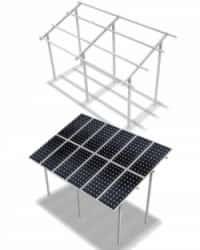 Estructura Elevada 3M 2x1 Paneles 20º ELV