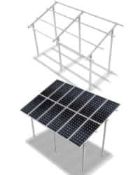 Estructura Elevada 3M 2x4 Paneles 20º ELV