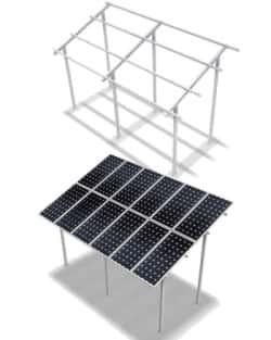 Estructura Elevada 3M 2x9 Paneles 20º ELV