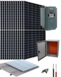 Kit Bombeo Solar 400V hasta 10HP INVT