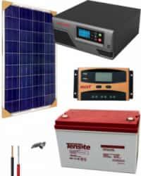 Kit Panel Solar 300W 12V 500Whdia  con batería AGM