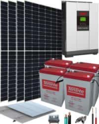 Kit Panel Solar Fotovoltaica Aislada 3000W 24V 9100Whdia