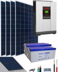 Kit Solar Aislada 3000W 24V 6400Whdia