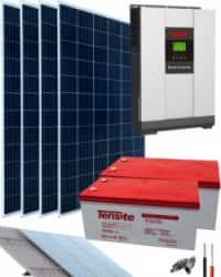 Kit Solar Aislada 3000W 24V 6800Whdia