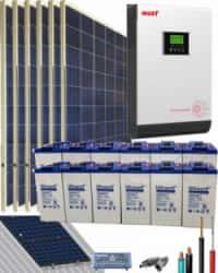 Kit Solar Aislada 3000W 24V 8100Whdia
