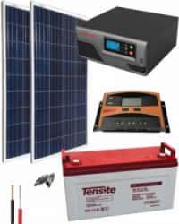 Kit Solar Aislada 300W 12V 1500Whdia