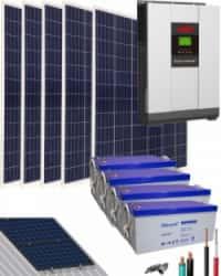 Kit Solar Aislada 4000W 48V 9600Whdia