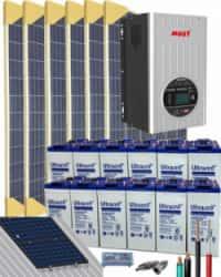Kit Solar Aislada 5000W 24V 9600Whdia