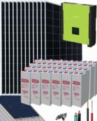 Kit Solar Autoconsumo Baterías 10000W 48V 52000Whdia