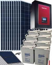 Kit Solar Autoconsumo Baterías 3000W 72V 17000Whdia