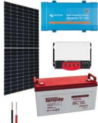 Kit Solar Cámaras 250VA 24V 2275Whdia