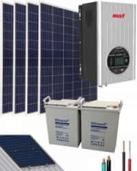Kit Solar Casa Campo 1000W 12V 3000Whdia