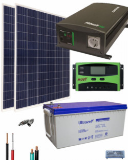Kit Solar Casa Campo 700w 12v 2000whdia Al Mejor Precio