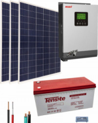Kit Solar Fotovoltaico Aislada 1000W 12V 3000Whdia