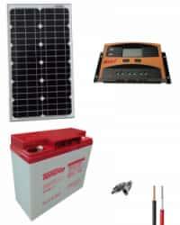 Kit Solar Iluminación Emergencia 12V 250Whdia