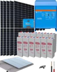 Kit Solar Vivienda Aislada 3000W 24V 10200Whdia