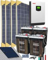 Kit Solar Vivienda Aislada 3000W 24V 6400Whdia