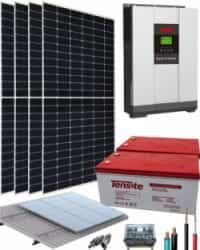 Kit Solar Vivienda Aislada 3000W 24V 6800Whdia