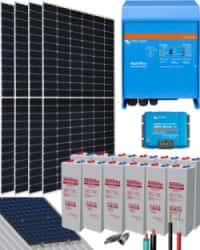 Kit Solar Vivienda Aislada 3000W 24V 9100Whdia