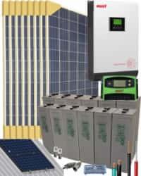 Kit Solar Vivienda Permanente 3000W 24V 12800Whdia