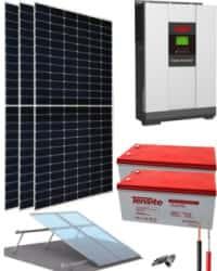 Kit Solar Vivienda Permanente 3000W 24V 6825Whdia