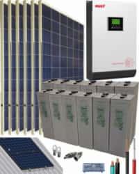 Kit Solar Vivienda Permanente 3000W 24V 8100Whdia