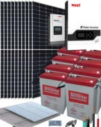 Kit Solar Vivienda Permanente 5000W 48V 22750Whdia