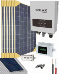 Kit Solar Conectado Red 2000W 9600Whdia SolaX