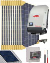 Kit Solar Conectado Red 3000W 16000Whdia Trifásico