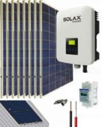 Kit Solar Conectado Red 3000W 16200Whdia SolaX