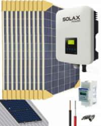 Kit Solar Conectado Red 3680W 17600Whdia SolaX
