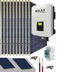 Kit Solar Conectado Red 4200VA 21600Whdia SolaX