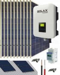 Kit Solar Conectado Red 4600W 24300Whdia SolaX