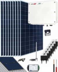 Kit Solar Conectado Red SolarEdgeW 15300Whdia  Monofásico