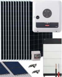Kit Solar Híbrido 10000W 52000Whdia Trifásico Fronius