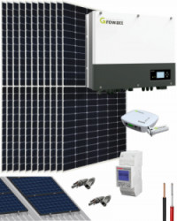 Kit Solar Híbrido 5000W 25000Whdia Growatt
