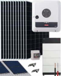 Kit Solar Híbrido 8000W 40000Whdia Trifásico Fronius