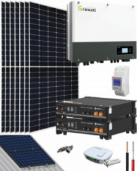 Kit Solar Híbrido Baterías 3000W 16000Whdia Growatt